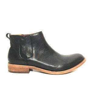 NEW Kork-Ease Black Leather Almond-Toe Booties